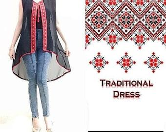 Modern vest Palestinian dress vest 2018 ثوب فلسطيني/مطرزات فلسطينية