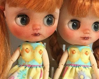 Blythe, custom middie Blythe , twin middie blythes, factory middie blythes, twin blythes