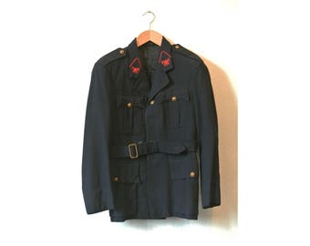 VICTOREX FIREMAN JACKET / wool twill / red hand embroidery / 1960's