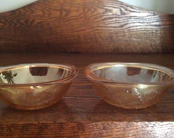 Flora Gold Berry Bowls