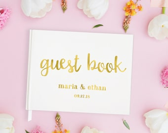 Gold Foil Wedding Guest Book Gold Foil Guestbook Wedding, Wedding Guest Book Foil Guest Book Wedding Personalized, Gold Guest Book Wedding