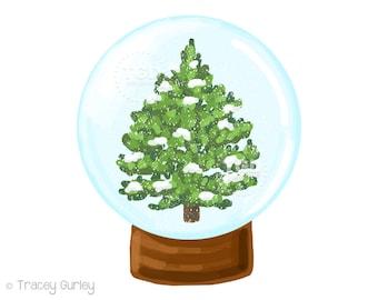 Snow globe, Christmas clipart, winter clipart, winter scene, Christmas clip art, winter clip art, snow, Christmas tree clipart