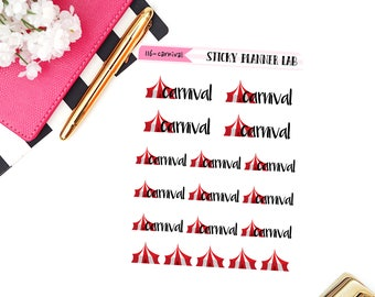 Carnival // Planner Stickers