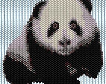 Panda Peyote stitch PATTERN