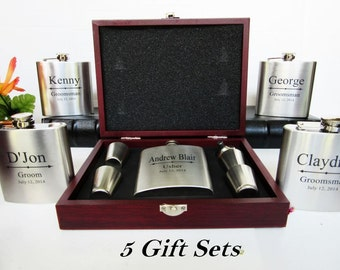 Will you be my bestman, gift for bestman, wedding momento, best man gift, bestman flask box, Set of 5 Groomsmen Gift Set, Gift for Asking
