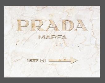 Prada Marfa Marble Canvas Print Gold - GOSSIP GIRL