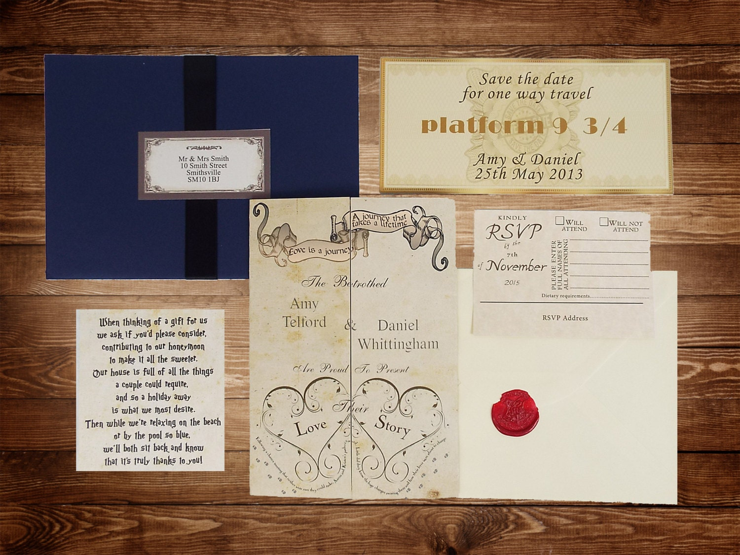 harry potter wedding invitations - Wedding Decor Ideas