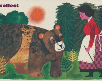 Vintage Image: Bear & Woman