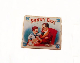 Vintage Sonny Boy Lithograph Tin Box, Vintage Tobacciano, Room a Roma, Home Fragrance,  Air Freshener, Odor Eliminator, Made in England