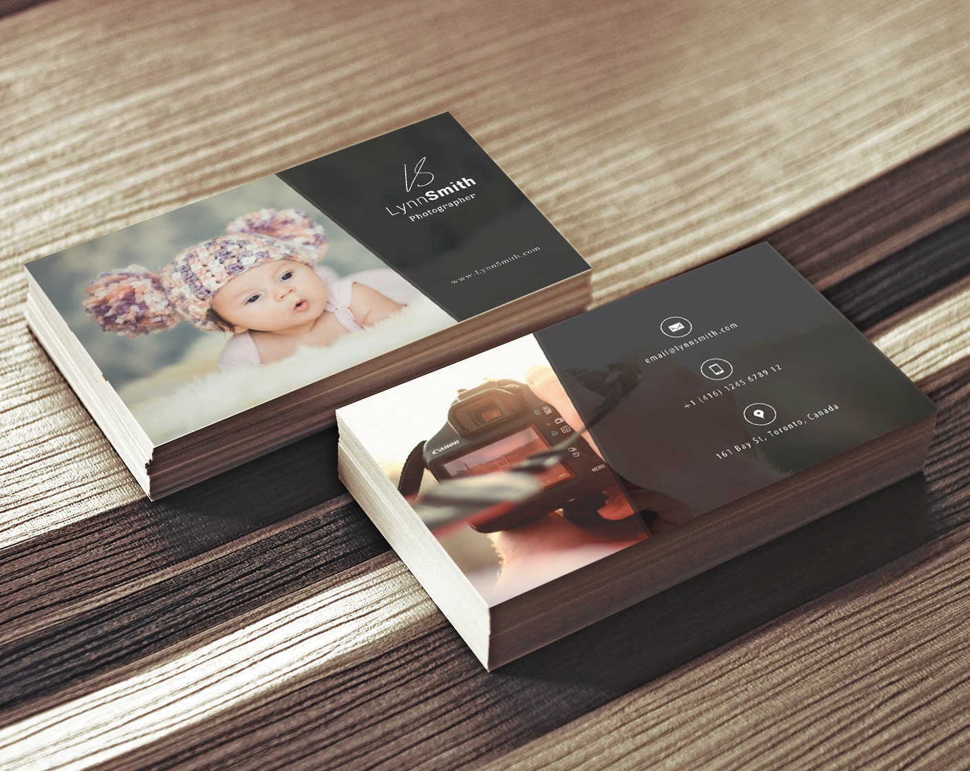 Photographer Business Card Template 2 Sided Photography