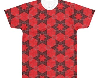 Red Square All-Over Printed T-Shirt