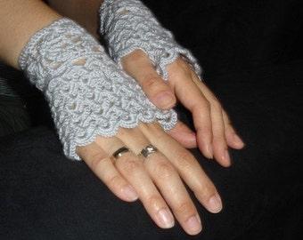 Custom crocheted fingerless gloves