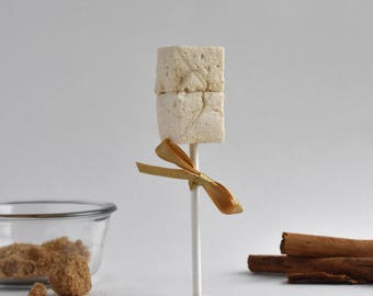Brown Sugar Cinnamon Pops - All Natural, Handcrafted Gourmet Marshmallows