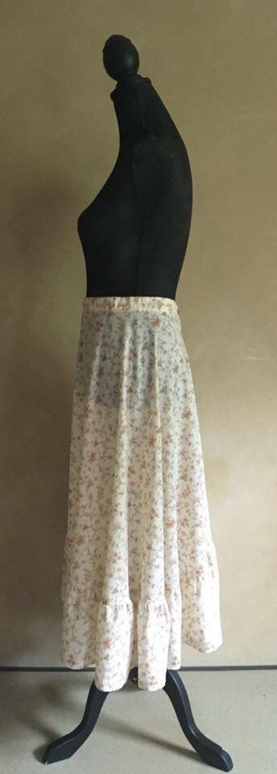 Vintage 70's Floral Cotton floral Skirt