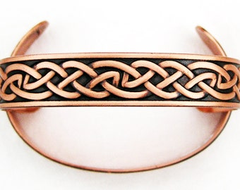 Copper Celtic Know Work Cuff Bracelet BCCUFF162 Solid Copper Cuff Bracelet