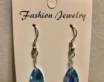 Aqua Marine AB Drop Earrings
