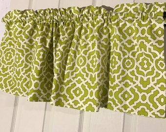 Waverly home decor  green geometric shapes Curtain Valance