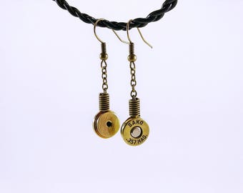 Earrings chain 357 Magnum casings