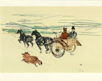 Toulouse-Lautrec -Double Harness to Frame or to use in Paper Arts, Collage, Scrapbooking, Mixed Media and MORE PSS 2770