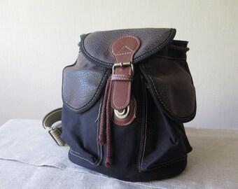 Burlap Rucksack Traveler Mountain Backpack Student's Bag Backpack Made in Sweden Unisex Backpack @207