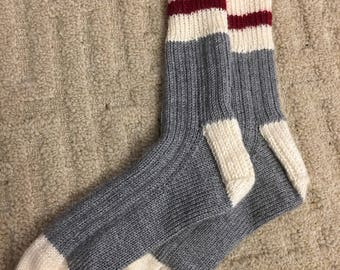 Traditional Newfoundland Hand Knit Socks