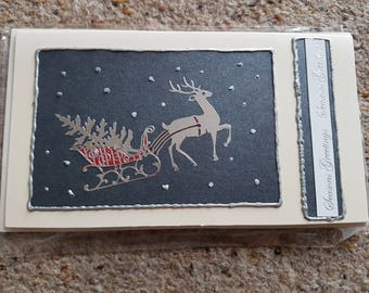 Christmas card Reindeer themed