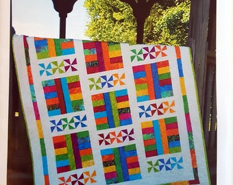 Saturday in the Park - Quilt Pattern - Layer Cake - Baby Quilt