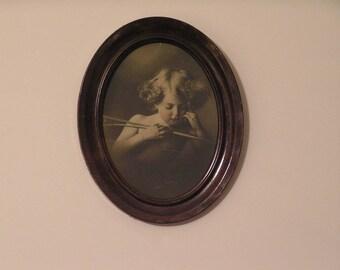 Rare 'Cupid Asleep' (1897) - Taber Prang Art Print of M.B. Parkinson original