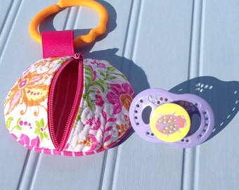 Pacifier Pouch / Pacifier Holder / Custom pacifier pouch with clip / Baby Pacifier Case