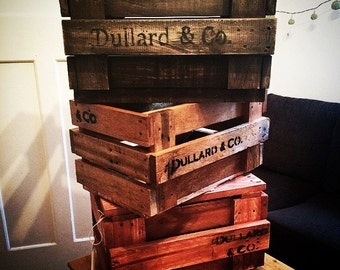Vintage Wooden Crate Planter Box - Old Fruit Box Style