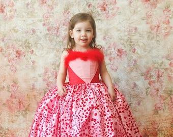 Heart Ballgown, Valentine's Dress, Dress Up, Heart Dress, Pageant Dress