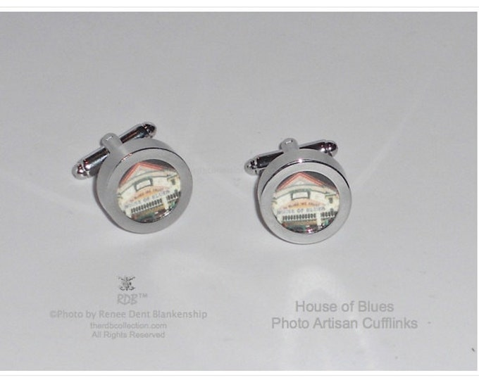 House of Blues Cufflinks - New Orleans Inspired