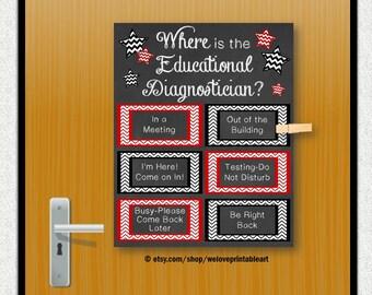Superb Educational Diagnostician, Back To School, Door Sign, Office Door, Office  Decor,
