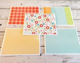 Note Card Set, Blank Note Cards, Note Cards, Thank You Notes, Blank Cards, Set of 5 Note Cards with Matching Envelopes, Pastel Floral Cards