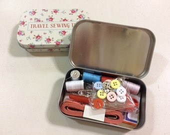 Travel Sewing Kit in a Tin