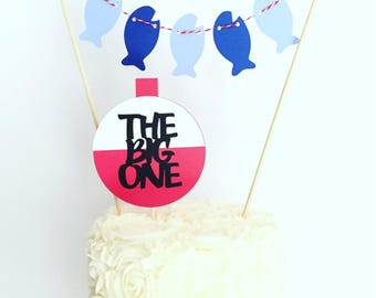 The Big One Cake Bunting Topper / First Birthday / Fishing Theme Birthday