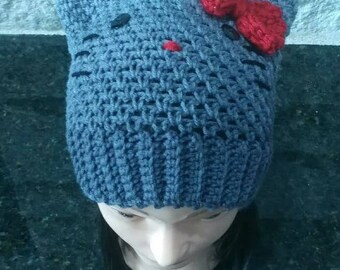 Hello Kitty Crochet Hat