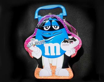 M & M  -  Mr.Blue M M - MM Tin,  Collectible M M tin,  Chocolate candy Tin, Display Tin,  M M advertising - M M collectible -   # 43