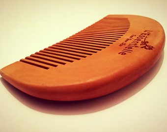 Beard Comb and or Hair Comb 100% Natural Peach Wood with no chemical process 10cm by 5cm