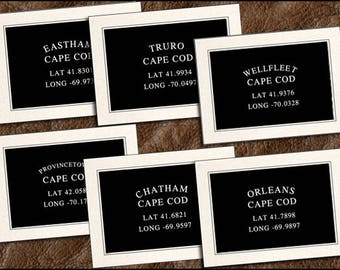 6 Cape Cod Note Card Handmade Set - Provincetown, Chatham, Orleans, Wellfleet, Eastham, Truro Note Card, Cape Cod Greeting Cards (GP381)