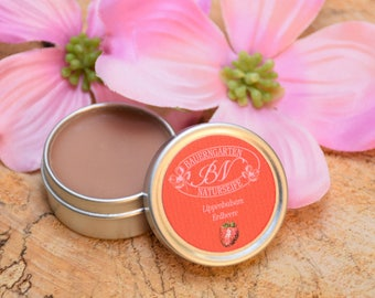 Lip Balm Strawberry, natural lip Care