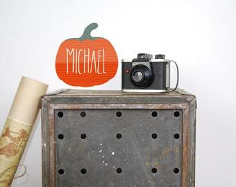 Halloween Wall Decals - Pumpkin Fabric Wall Decals