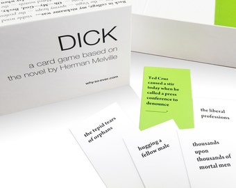 DICK: a hilarious Moby-Dick party game