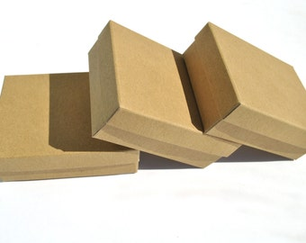 """20 Jewelry kraft brown, white, grey presentation boxes I Box with lid I Small gift boxes I 3.54x2.75x1.18"""""""