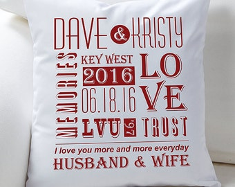 Our Life Together Personalized Throw Pillow