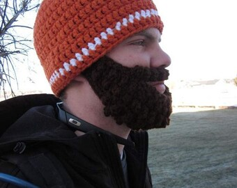 Adult ULTIMATE Bearded Beanie Carrot 1-Stripe
