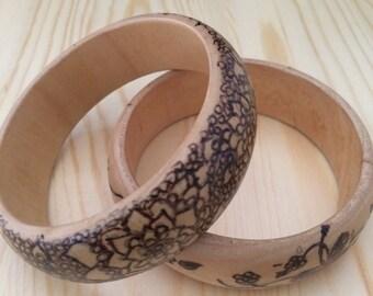 Floral Mandala and Butterfly bracelet set