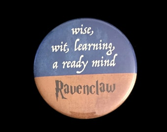 Magnet Ravenclaw Harry Potter Hogwarts House Motto Traits Wise Learning Wit