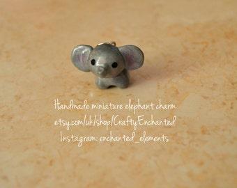 Miniature elephant charm