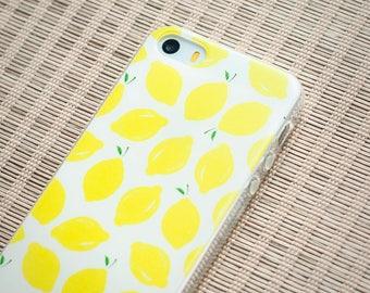 iPhone SE Case iPhone Case SE iPhone Case 5s iPhone 5s Case iPhone Case 5 - Lemon ! Magic Fruit -Slim Case TRANSPARENT or Opaque